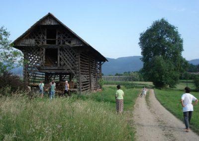 2007 - Celeiro típico esloveno (Kozolec)